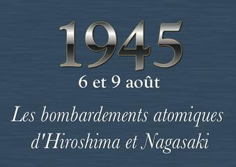 Plaque Histoire - 1945 Hiroshima