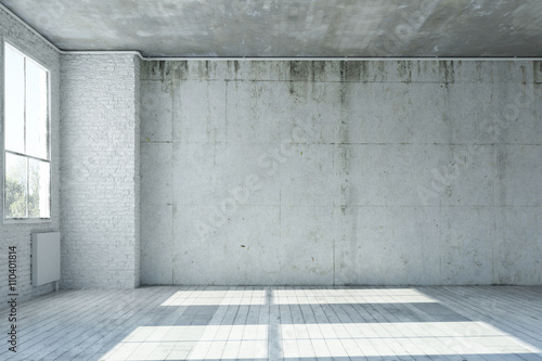 wand aus beton in einem leeren raum stockfotos und. Black Bedroom Furniture Sets. Home Design Ideas