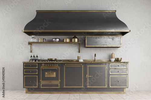 alte vintage k chenzeile in k che imagens e fotos de stock royalty free no. Black Bedroom Furniture Sets. Home Design Ideas