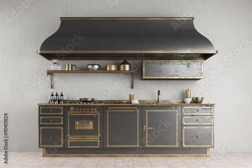 alte vintage k chenzeile in k che imagens e fotos de stock royalty free no. Black Bedroom Furniture Sets. Home Design Ideas