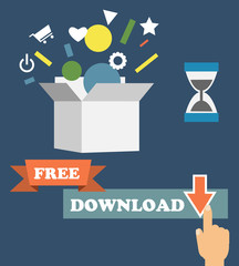 Vector infographics depicting freemium business model - free of charge