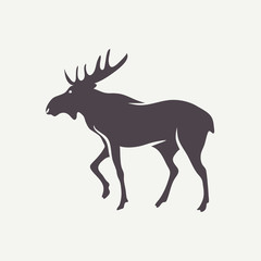 Moose symbol. Vector animal silhouette