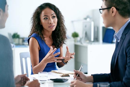 Explaining business idea
