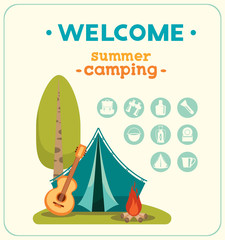 Summer camping and travel equipment.