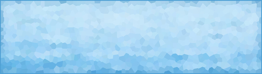 vector illustration - light blue abstract polygonal banner, background