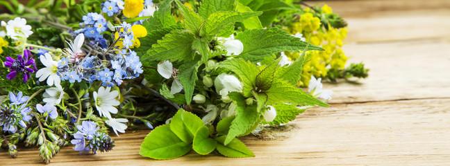 Medicinal plants bouquet