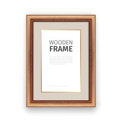 Wooden Rectangle Frame with Gold