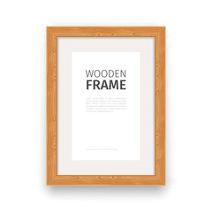 Wooden Rectangle Frame Natural