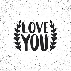Lettering LOVE YOU