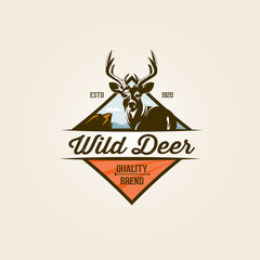 Vintage wild nature label and logo template