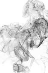 Abstract gray smoke from the incense.