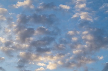 Evening sky and clouds
