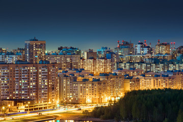 St. Petersburg at night southwest