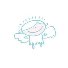 simple angel icon vector illustration