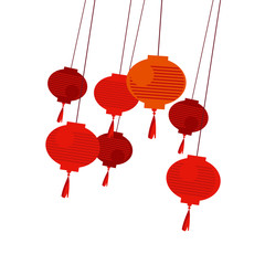 chinese red lantern vector illustration