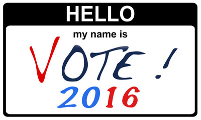 hello my name is vote 2016