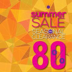 Summer Sale Modern Background Vector Illustration.