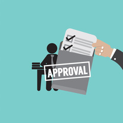 Document Approval Vector Illustration.