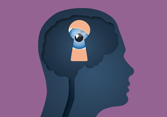 Cerveau - Serrure Oeil