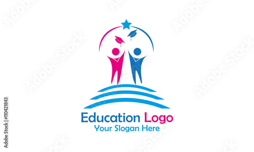 quoteducation logo designquot stock image and royaltyfree