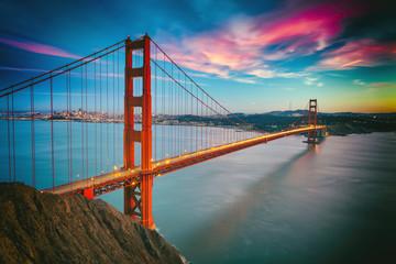 Fotobehang San Francisco San Francisco with the Golden Gate bridge