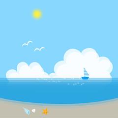 夏の風景 海