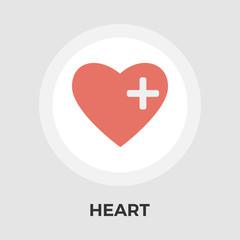 Heart vector flat icon
