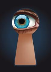 Trou de serrure - Oeil - Espionner