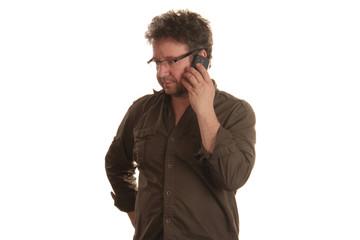Mann telefoniert
