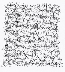 Unidentified Abstract Handwriting Scribble