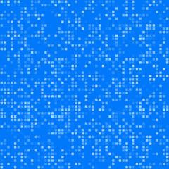 Blue square pixel mosaic background