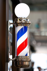 Barber shop vintage pole