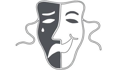Theatre mask - drama and comedy