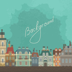 Vintage Background French Architecture