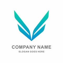 Simple Wings Vector Logo Template