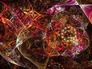 Abstract bright background - digitally generated image