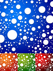 Colorful background with random, scattered circles. Abstract dot