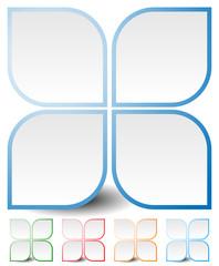 Generic icon, design element in four colors