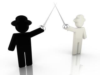 Black hat fights white hat hacker