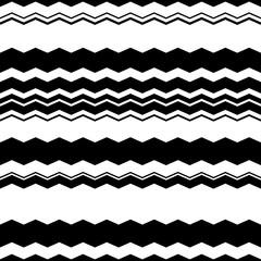 Wavy (zigzag) lines repeatable pattern - Irregular monochrome pa