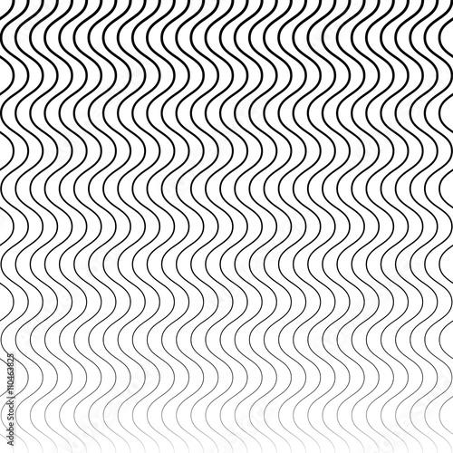 Wavy, billowy (zigzag) lines