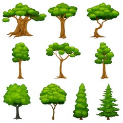Diversity of trees set