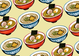 Background : Chinese noodles,Japanese noodles