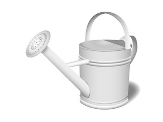 Illustration of a steel watering can