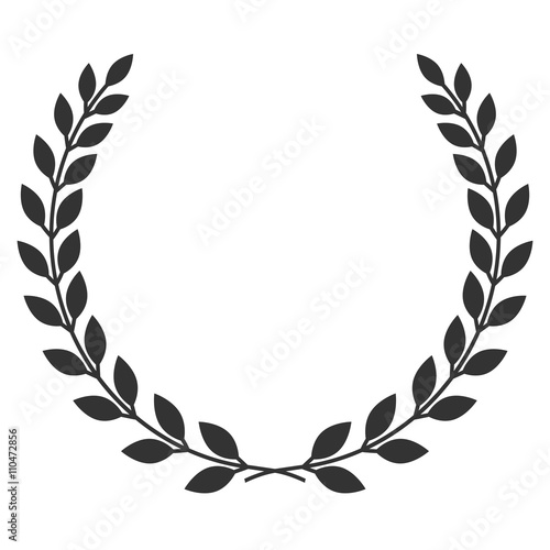A Laurel Wreath Icon Symbol Of Victory And Achievement