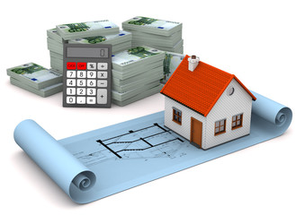 House Construction Plan Euro Notes Calculator