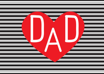 Greeting card template for Father's Day,fathers day card