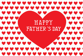 fathers day card,pattern with hearts, vector illustration
