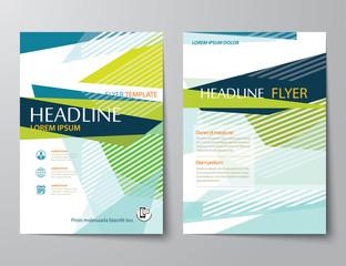 vector abstract low polygon templates for flyer brochure flat de