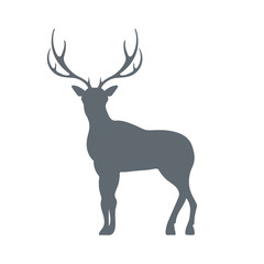 Flat deer icon.